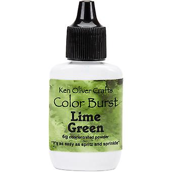 Ken Oliver Color Burst Powder 6gm-Lime Green KNCPW-6187