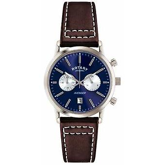 Rotary Mens Avenger Brown Leather Strap Chrono GS02730/05 Watch