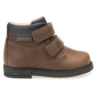 Geox Boys Glimmer B640VA Waterproof Boots Brown