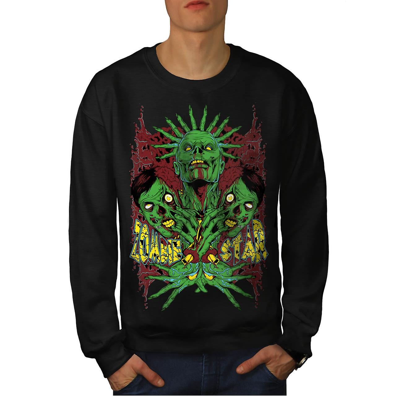 Monster Zombie Star mareritt menn svart Sweatshirt | Wellcoda