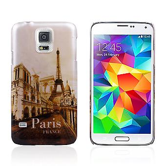 Cover Paris with Eiffel Tower in hard plastic for Samsung Galaxy S5 i9600 G900
