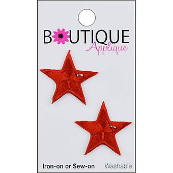 Iron-On Appliques-Red Stars 2/Pkg A001300-206