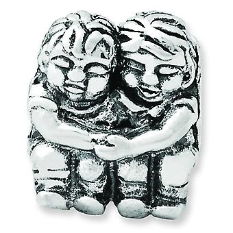 Sterling Silver Reflections Two Kids Bead Charm
