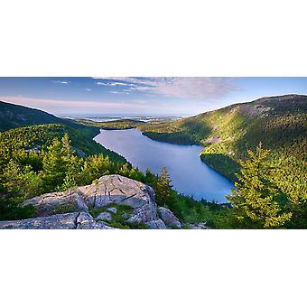 Jordan Pond from the North Bubble Acadia National Park Maine USA Poster Print