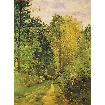 Skogkledde banen 1865 plakatutskrift av Claude Monet