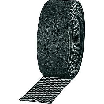 Hook-and-loop tape for bundling Hook and loop pad (L x W) 2500 mm x 25 mm Black TOOLCRAFT KL25X2500C 2 Rolls