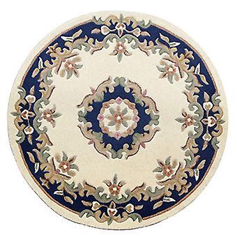 Rugs - Mahal Round - Cream Blue