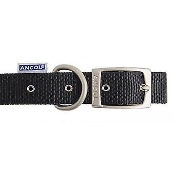 Collar de Nylon patrimonio negro 12 mm X26-36 cm