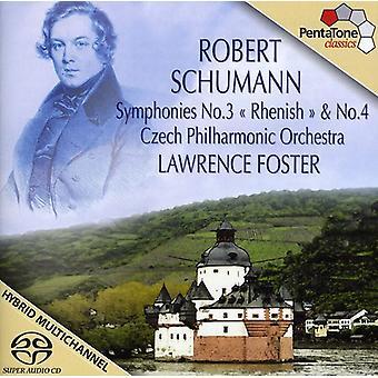 R. Schumann - Schumann: Importación sinfonías 3 & 4 [SACD] Estados Unidos