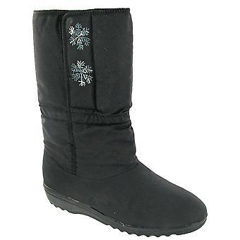 Blizzard Boots Ladies Snowflake Textile Weather Wellingtons Nylon Pile PU Touch