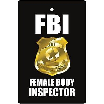 Female Body Inspector Car Air Freshener