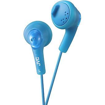 JVC Gumy Bass Boost Stereo-Kopfhörer für iPod iPhone MP3- und Smartphone - Pfefferminz blau