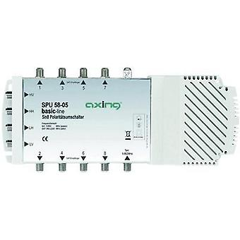 SAT multiswitch Axing SPU 58-05 Inputs (multiswitches): 5 (4 SAT/1 terrestrial) No. of participants: 8 Quad LNB compatib