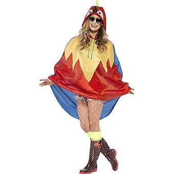 Parrot costume party poncho Parrot bird Macaw poncho raincoat Festival costume