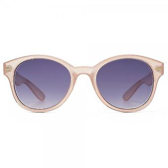 M:UK Soho Preppy Round Sunglasses In Crystal Pink