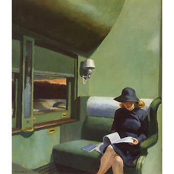 Edward Hopper - Compartment C Car 193 Poster Print Giclee