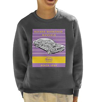 Haynes Workshop Manual 0070 Ford Cortina Mk3 Stripe Kid's Sweatshirt