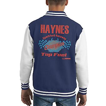 Haynes Brand Sparkford Raceway Top Fuel Kid's Varsity Jacket