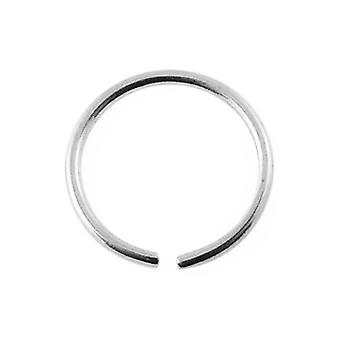 Nose Hoop Ring 14Ct White Gold, Piercing Body Jewellery
