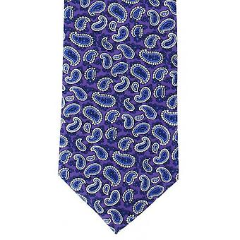 Michelsons of London Traditional Printed Pine Silk Tie - Lilac