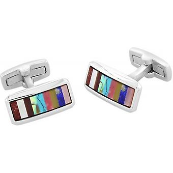 Duncan Walton Wright Cufflinks - Silver/Multi-colour