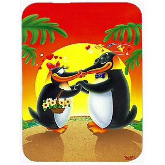 I Love Valentinsdag pingviner Glass kutte bord stor