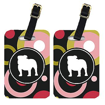 Carolines Treasures  KJ1122BT Pair of 2 Bulldog Luggage Tags