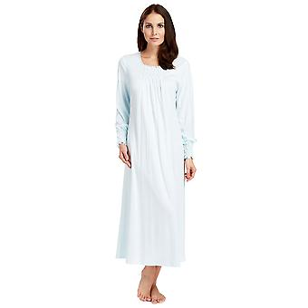 Feraud 3883037-10840 Women's Crystal Blue Cotton natt kjole Loungewear Nightdress