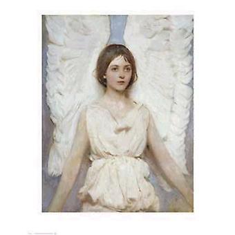 Ангел плакат печати Abbott Handerson Таер (24 x 31)