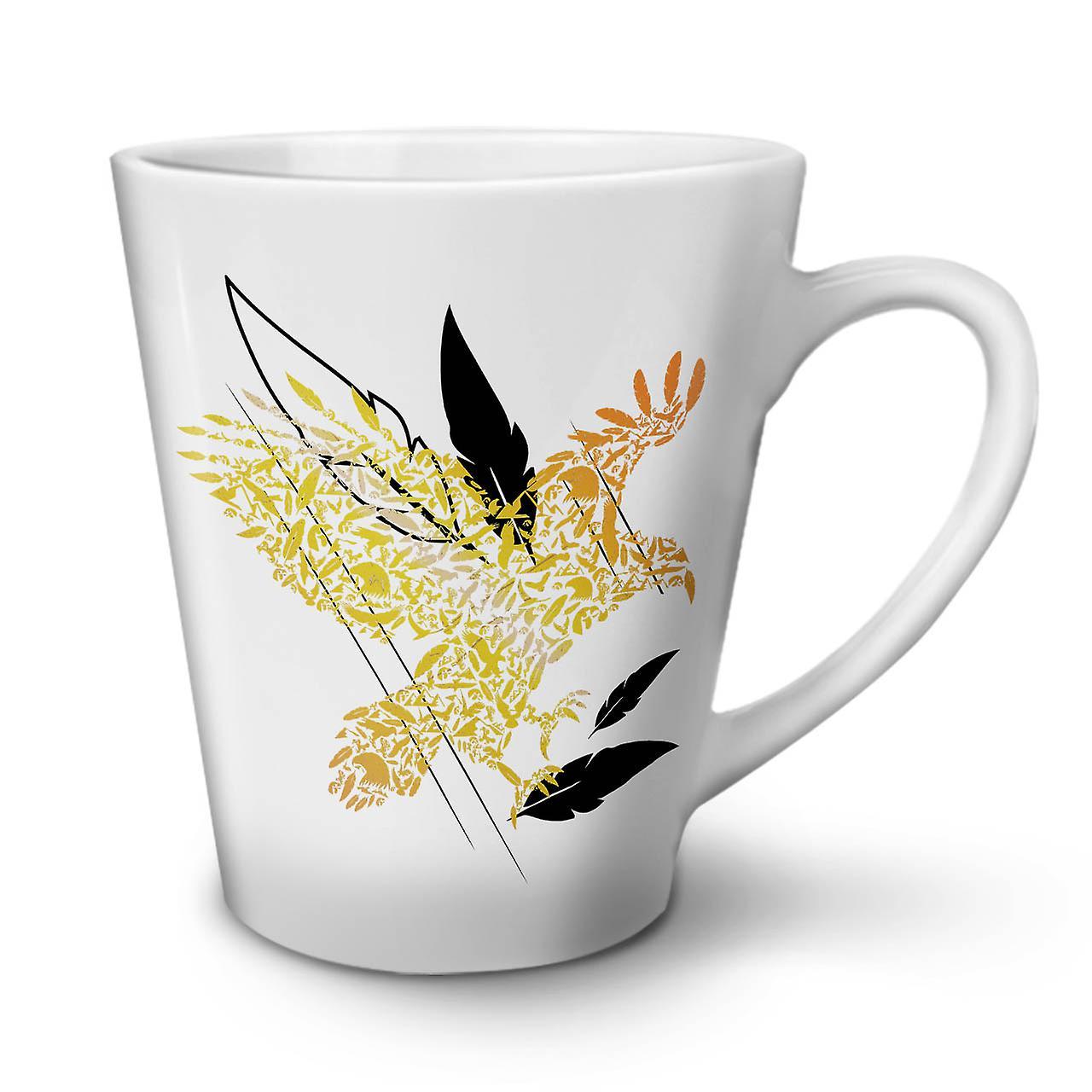 Céramique Plume D'oiseau Latte Nouvelle Tasse Nature Café OzWellcoda 12 Mouche En Blanche mn0wN8Ov