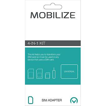 Mobilize MOB-21497 Smartphone Sim Adapter Kit 4-in-1