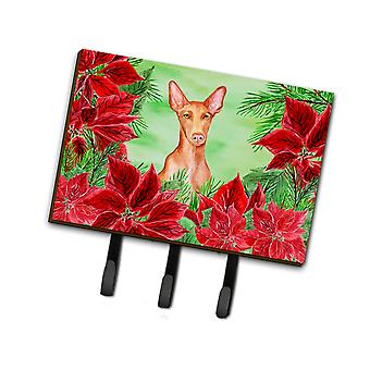 Carolines Treasures  CK1362TH68 Pharaoh Hound Poinsettas Leash or Key Holder