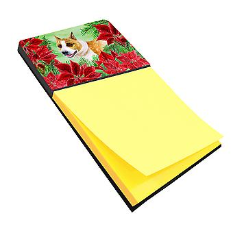 American Staffordshire Poinsettas Sticky Note Holder