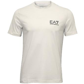 Emporio Armani EA7 Classic Stretch Cotton T-Shirt, White