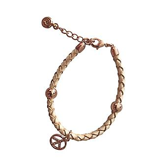 Braided Leather Bracelet With Silver Pendant As0089