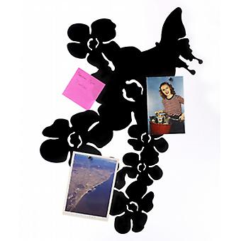 Black Blossom   Butterfly Memo Board