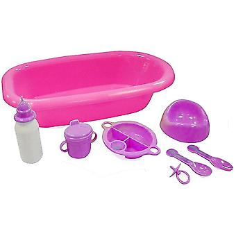 M.Y Baby 8 Piece Dolls Bath and Accessory Set