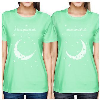 Luna e nuovo BFF camicie Womens Mint migliore amico regali di corrispondenza