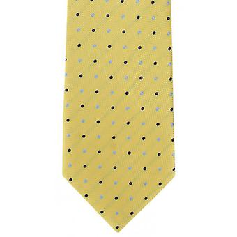 Michelsons of London Bold Spot Polyester Tie - Yellow