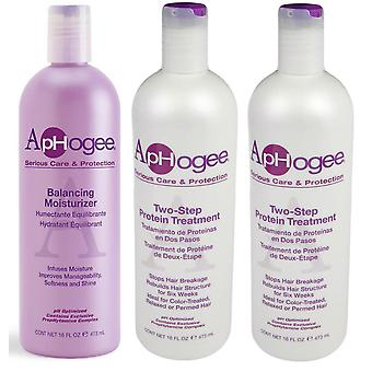 Aphogee Two-Step Protein Treatment, Balancing Moisturizer, Deep Moisture Shampoo