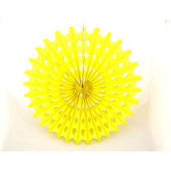 Decoration 'Big Sun' Yellow Honeycomb Hanging Fan