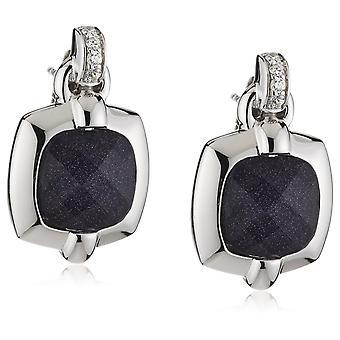 Orphelia Silber 925 Ohrringe Glas - blau Sandstein Zirkonium ZO-5209