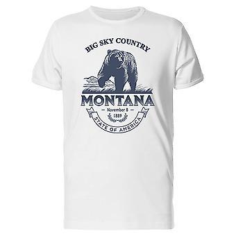 Big Sky Country Montana 1889 Tee homme-Image de Shutterstock
