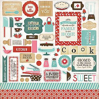 Home Sweet Home Cardstock Stickers 12