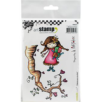 Carabelle Studio Cling Stamp A6 By La Rafistolerie-Girl Under A Tree