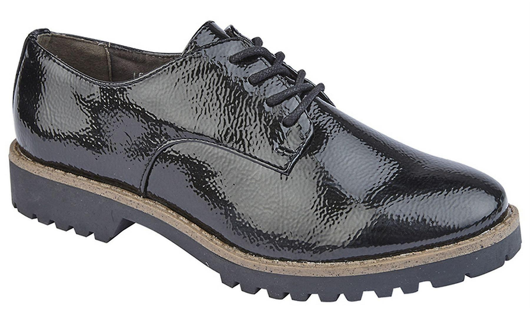 Ladies Office Hi Womens Lace Oxford Casual Smart Up Shine Shoes gUgHr