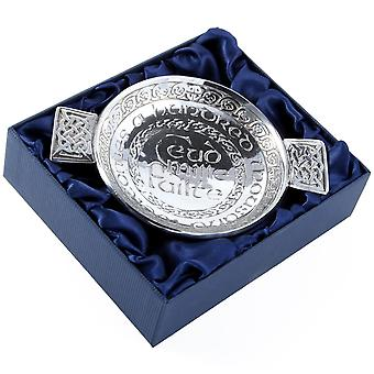 Ceud Mile Failte - Hundred Thousand Welcomes Scottish Pewter Quaich Bowl - 3.5