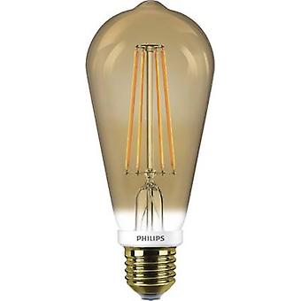 Philips Lighting LED EØF a (en ++ - E) E27 Bulged 8 W = 50 M gull (Ø x L) 60 x 148 mm Filament, kan dimmes 1 eller flere PCer