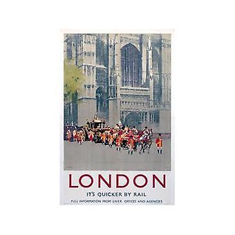 London Westminster (Old Rail Ad.) Fridge Magnet