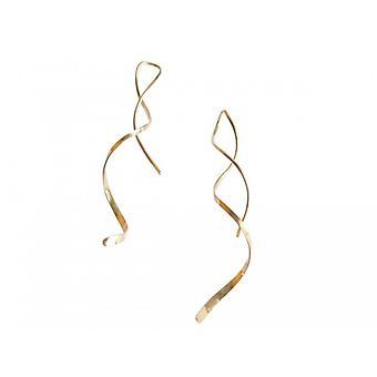 Øreringe Guld belagte øreringe sløjfer danne TESSY